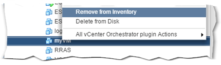 Removing a VM from inventory